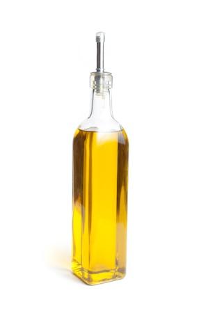 Bottle of canola oil over white background Standard-Bild