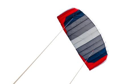 Rot, blau und grau Drachen, isoliert über weißem Hintergrund Lizenzfreie Bilder