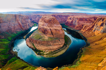 Horse shoe bend in Page Arizona, USA. The Photo is taken in the evening.