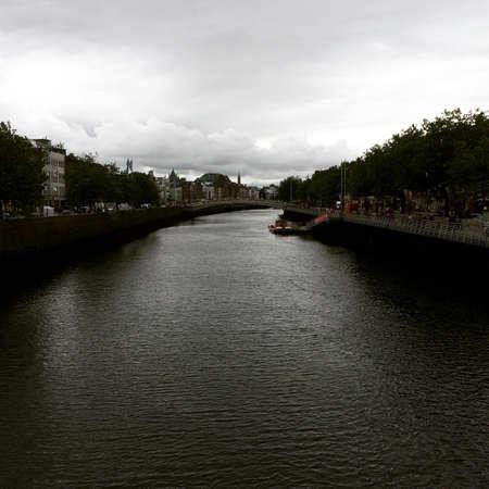 Liffy Rivier in Dublin Ierland