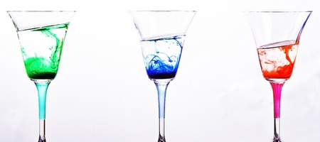 color mixing in glasses