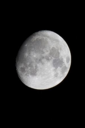 Driekwart maan Stockfoto - 19794731