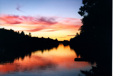 Reflection at Sunset Banco de Imagens
