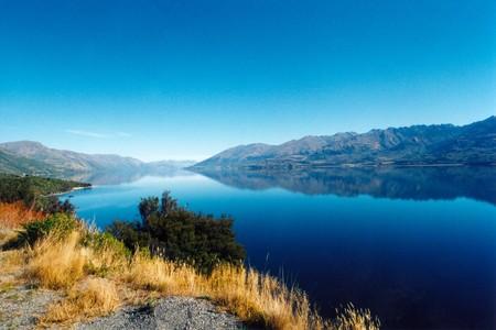 Reflection on a Lake, New Zealand Banco de Imagens
