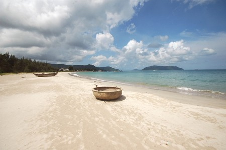 con dao: Boats and Beach in Con Dao, Vietnam
