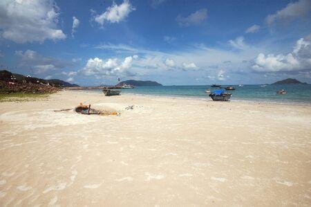 con dao: Boats on the Beach Stock Photo