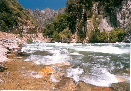 Kings River Canyon, Sierra Nevadas Banco de Imagens
