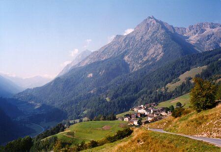 Village in the Alps Stock fotó