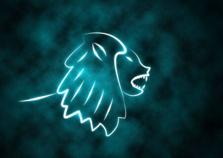Zodiac Sign Lion Stock Photo