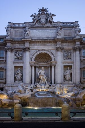 Trevi Fountain, Fontana di Trevi, in the dusk, Rome, Italy Stock Photo - 4807612