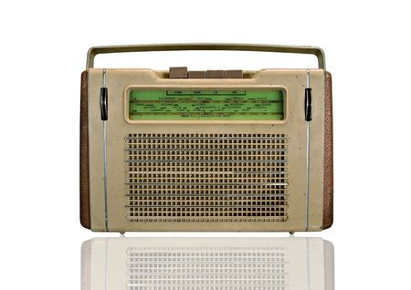 old vinatage retro radio isolated on white Stock Photo - 4819634