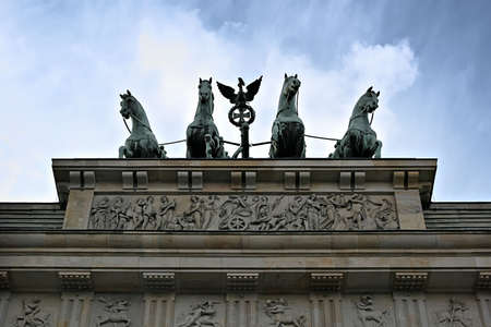 quadriga: The Quadriga on top of the Brandenburger Tor, Berlin