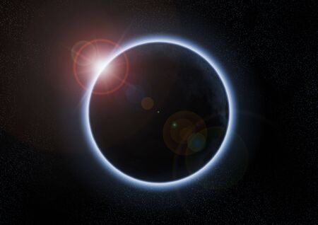 A solar eclipse occurs when the moon passes between the Sun and the Earth Stock Photo - 4863497