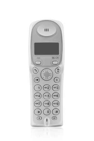 wireless dect phone isolated on a white background photo