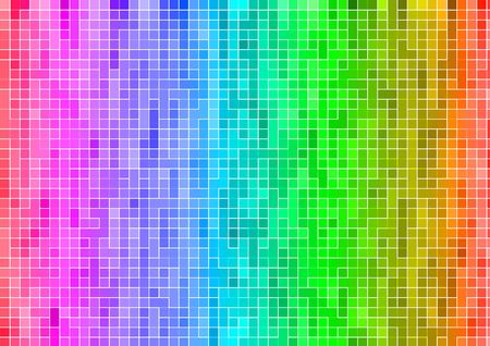 pixel art: rainbow multicolor abstract pixels background wallpaper Stock Photo