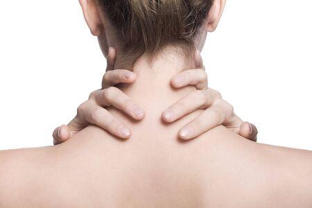 the neck: closeup shot del collo e la spalla di una bella ragazza