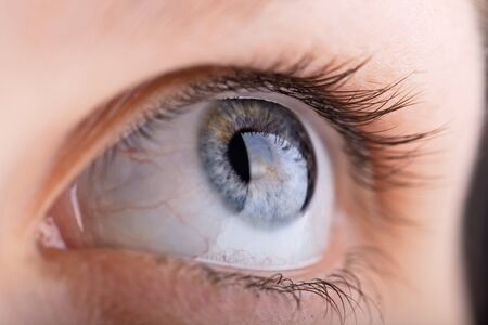 close up shot of a womans eye with shallow DOF photo