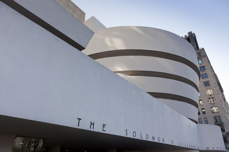 New York, December 19, 2011, Facade of the Guggenheim Museum Editorial