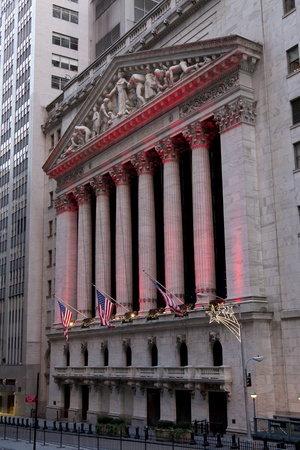 NEW YORK CITY - Wall Street with New York Stock Exchange in Manhattan, December 26, 2012 in New York City