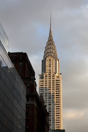 NEW YORK CITY - Chrysler building facade on January 02, 2012 in New York City. The worlds tallest building before it was surpassed by the Empire State Building in 1931
