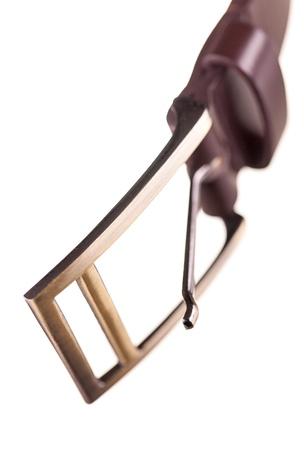 riek: conventionele riem gesp met enkele vierkante frame en vork, ondiepe DOF
