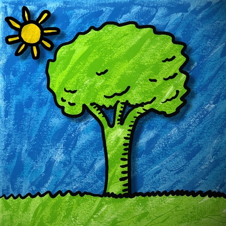 Tree painting photo
