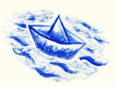 paper boat Stock Photo - 10493493