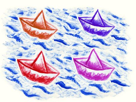 paper boat Stock Photo - 10489342