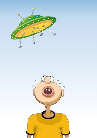 anguish: UFO Illustration
