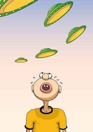 hysteria: UFO Illustration