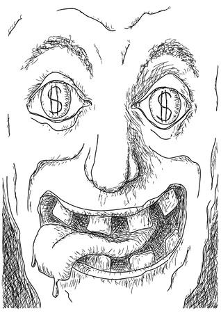 greedy: avarice Illustration