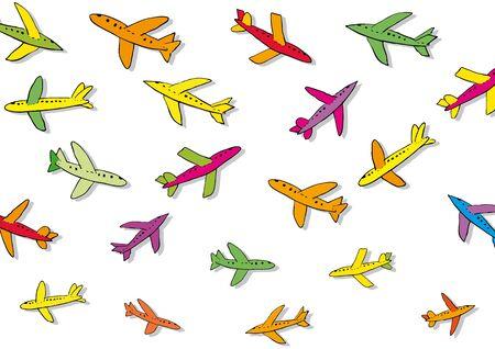 many coloured: many planes