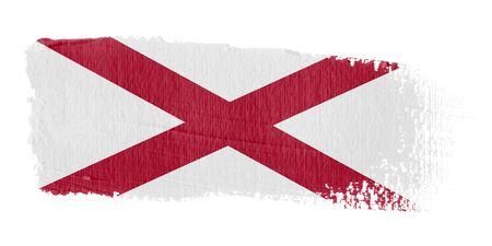 alabama flag: Brushstroke Flag Alabama