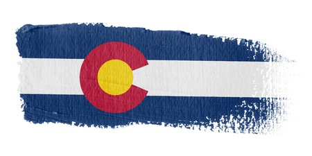 colorado state: Brushstroke Flag Colorado
