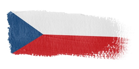 graphing: Brushstroke flag Czech Republic Stock Photo