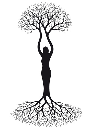 root: woman tree