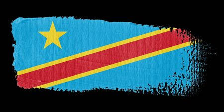 republic of the congo: Brushstroke Flag Democratic Republic of the Congo Stock Photo