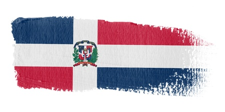 republic dominican: Brushstroke Flag Dominican Republic