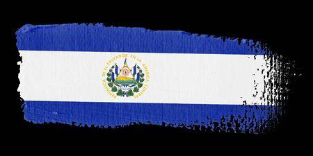 bandera de el salvador: Bandera de pincelada El Salvador Foto de archivo