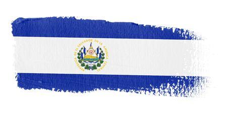 central america: Brushstroke Flag El Salvador