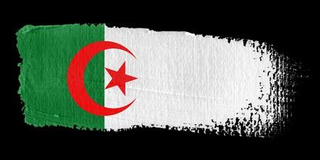 algerian flag: Brushstroke Flag Algeria