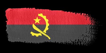 angola: Brushstroke Flag Angola