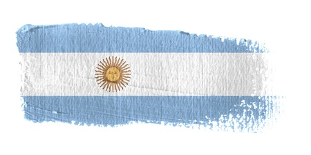 graphing: Brushstroke Flag Argentina
