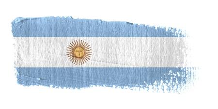 argentina: Brushstroke Flag Argentina