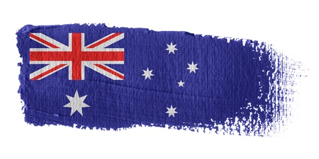 australia flag: Brushstroke Flag Australia