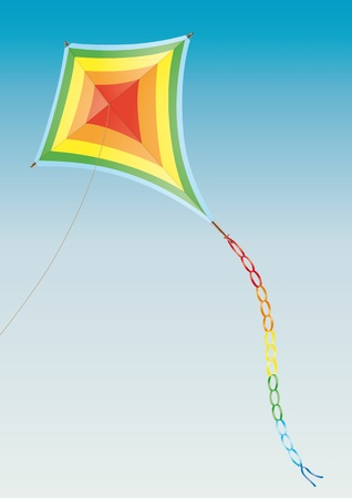 flying a kite: Kite Illustration