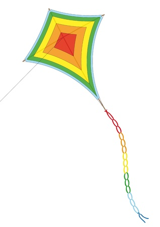 flying kite: Kite Illustration