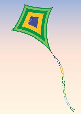 Kite Stock Vector - 10526526