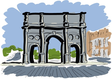 Arch of Constantine Stock Vector - 10531804
