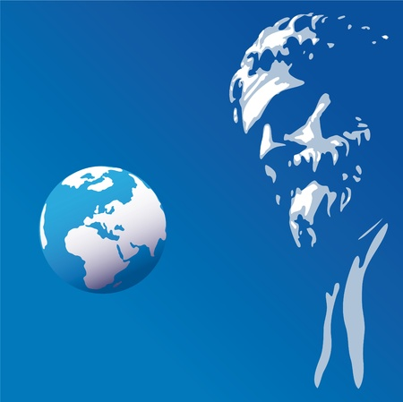 romano: Mira el mundo Vectores